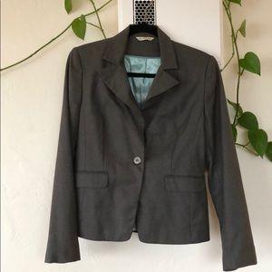 Adorable grey one-button blazer, never worn